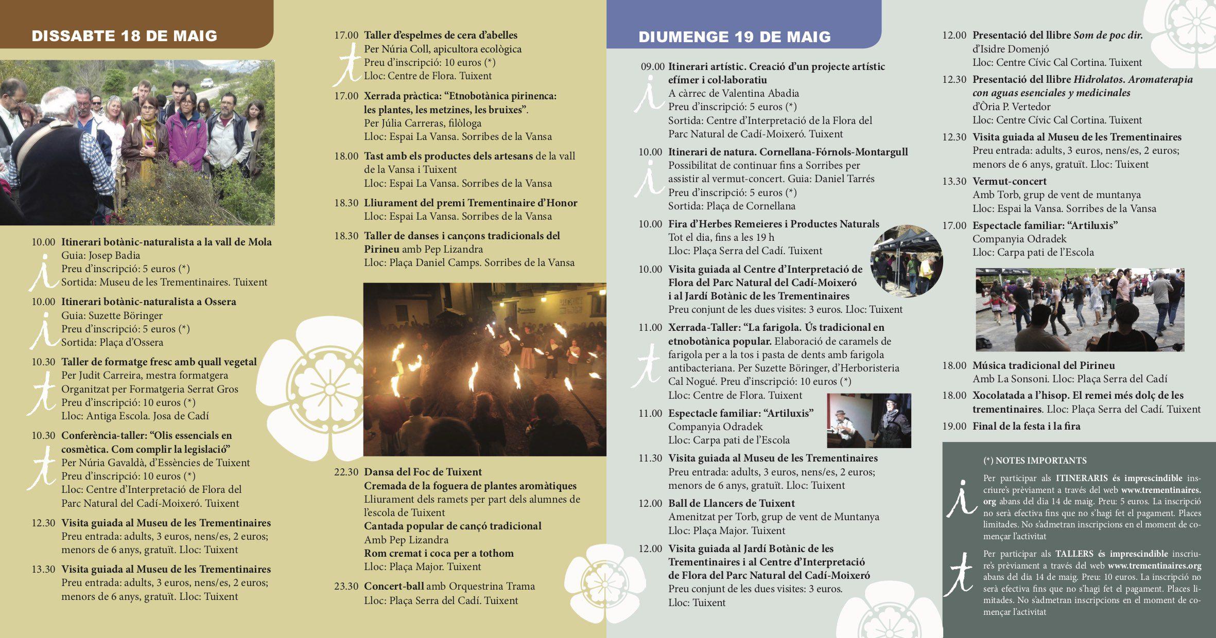 20a Festa i Fira Trementinaires: 18 i 19 de maig del 2019